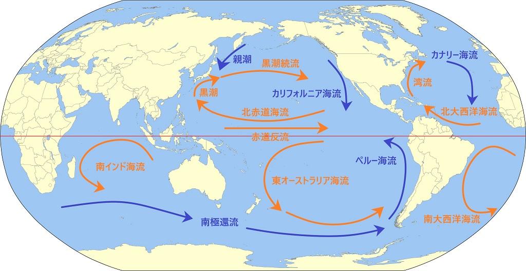 世界の表層海流